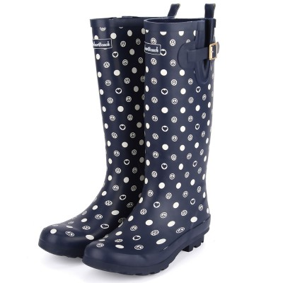 Womens Poppy Wellies - Navy