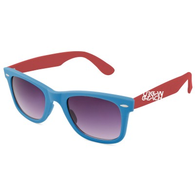 Two Tone Wayfarer Sunglasses Blue