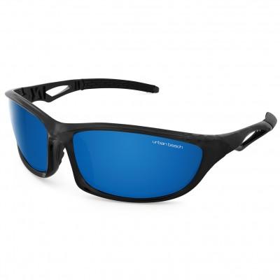 Mens Transition Wraparound Sunglasses Black