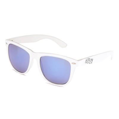 Unisex White Tron Wayfarer Sunglasses
