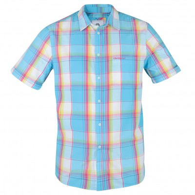 Mens Aqua Short Sleeved Shirt