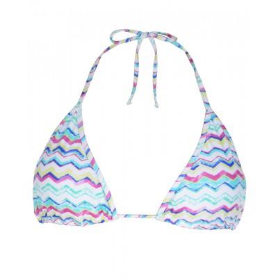 Womens Coral Bikini - Pink Aqua Stripes
