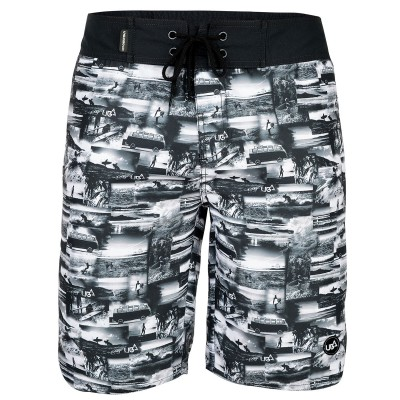 Mens Jaws Board Shorts - Black